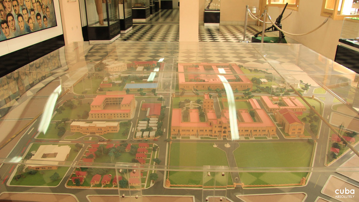 A scale model of the Moncada Barracks. Santiago de Cuba, Cuba