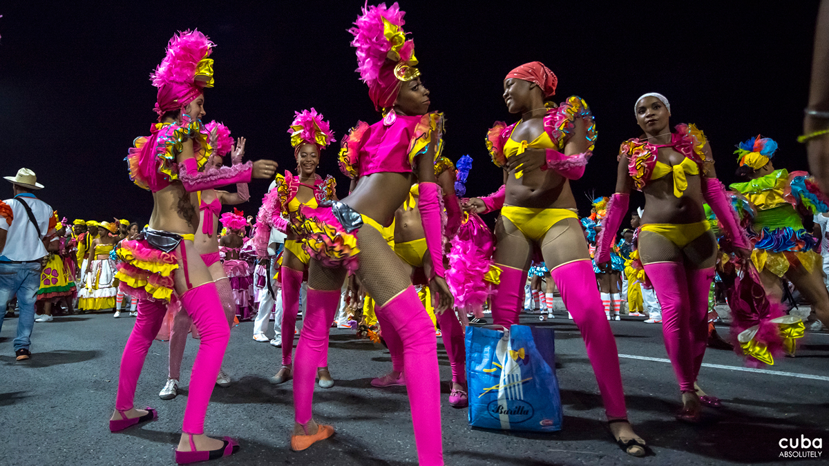 """A seventeenth-century Italian visitor, Giovanni Francesco Giamelli Careri, remarked: """"On Sunday, February 9, 1698, in Havana, before Easter, blacks and mulattos, in picturesque costumes, formed a congregation to revel in the carnival."""" Havana, Cuba"""