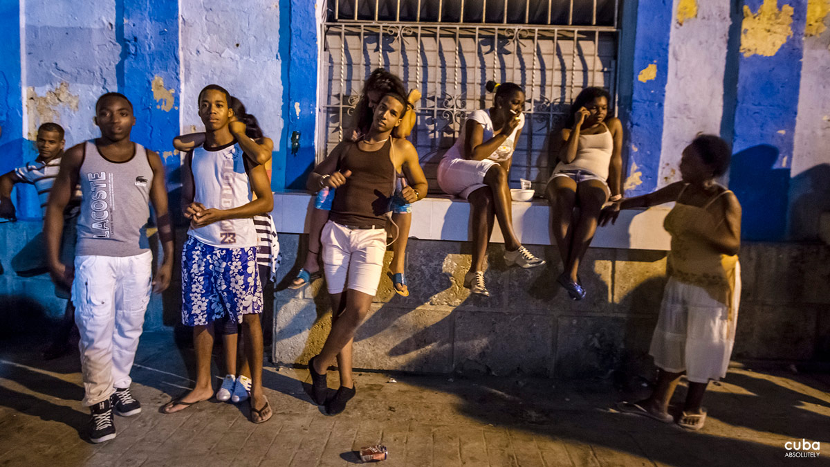 The teenagers play their favorite music that ranges from salsa to timba to reggaeton. Havana, Cuba