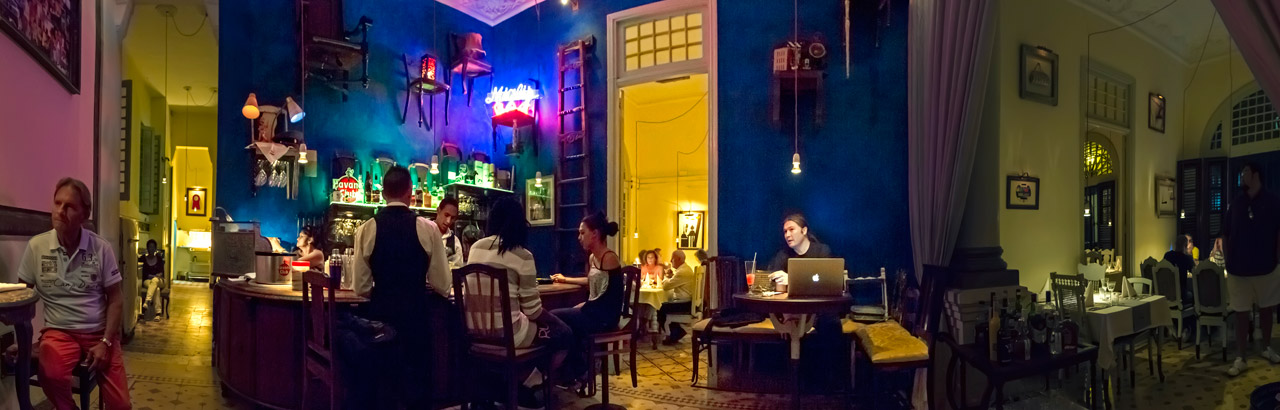 Casa Miglis, The beautifully designed interior, warm ambience and Miglis's personality create the feeling of an oasis in Central Havana.