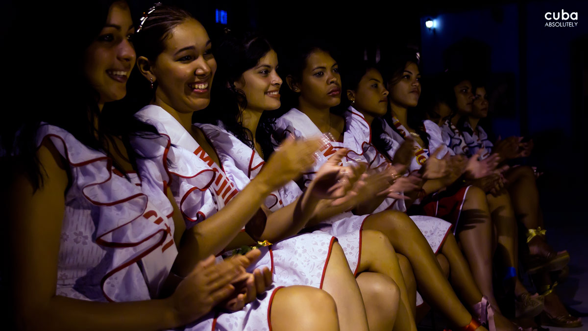 "Unique to festivals in Cuba is the beauty pageant that takes place during the Cucalambeana. The chosen girl is believed to be the image of a typical country woman (tall, long black hair and dark skin) and is declared ""La Flor de Birama,"" or The Flower of Birama and all the other girls are the Petals. Las Tunas, Cuba"