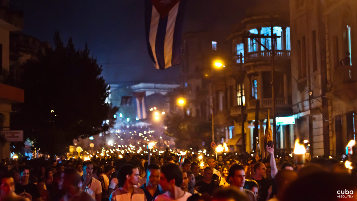 In 1953, on the centenary of his birth, the Federation of University Students decided to pay tribute to Martí's memory in what would become known as the March of the Torches. Havana, Cuba