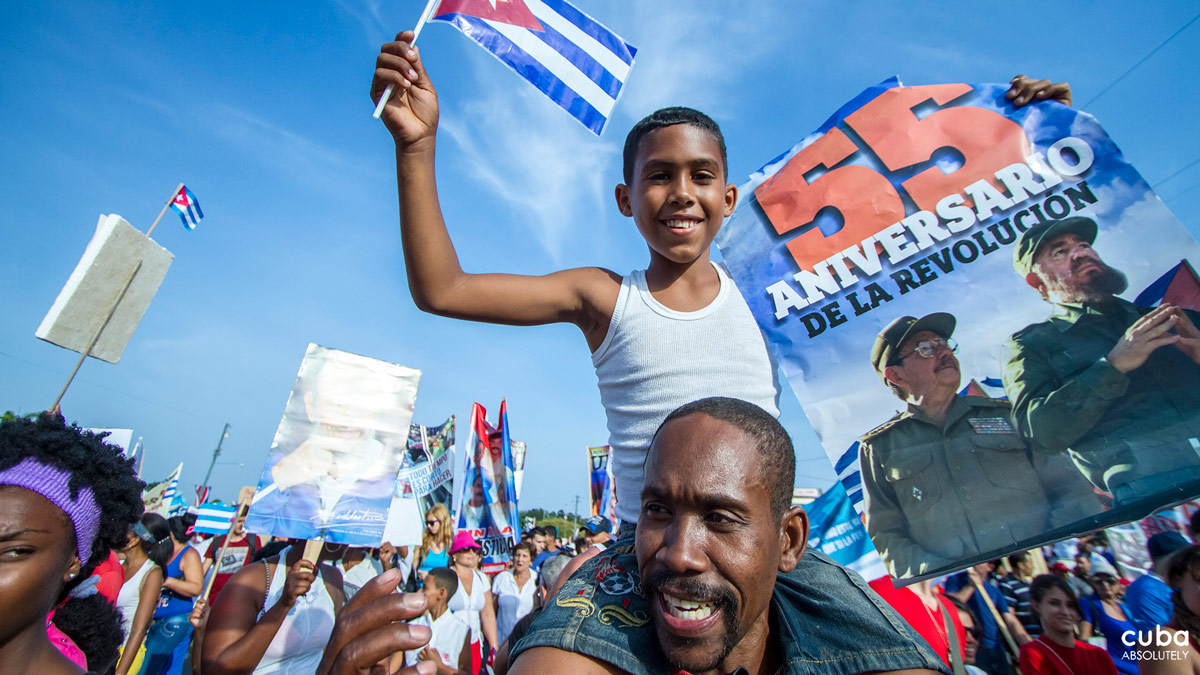 Kids too come to celebrate with their parents. Havana, Cuba