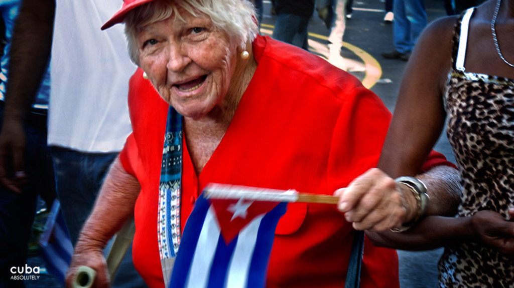 The 1st of May celebration gives extra energy to many who come to this demonstration year after year. Havana, Cuba