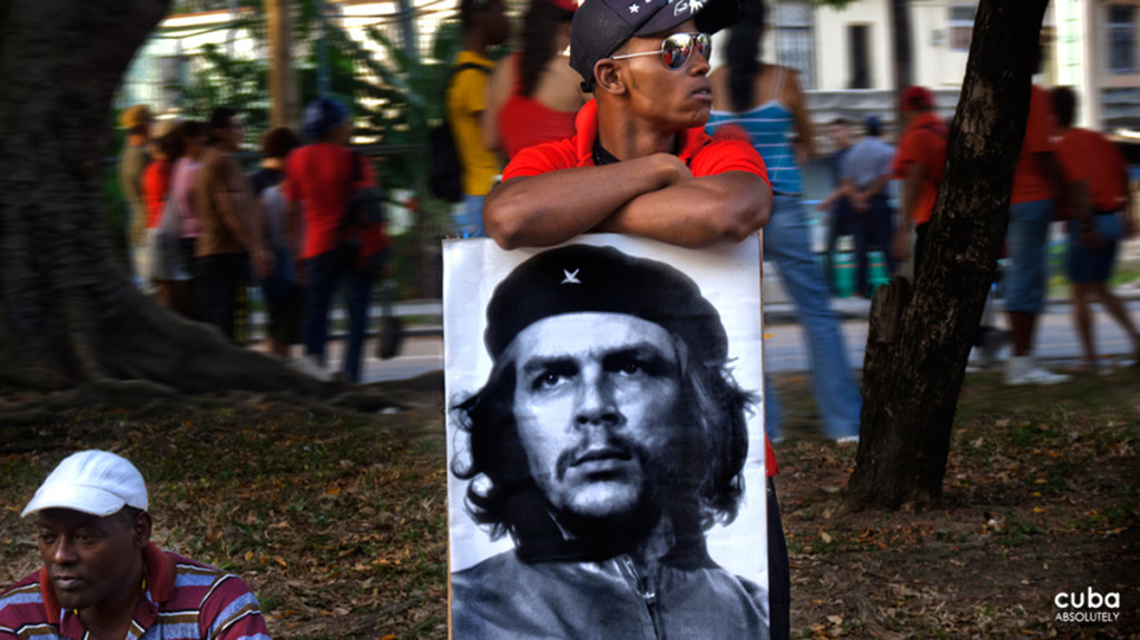 In spite of his death in 1967. Che Guevara has never missed a May 1st demonstration. Havana, Cuba