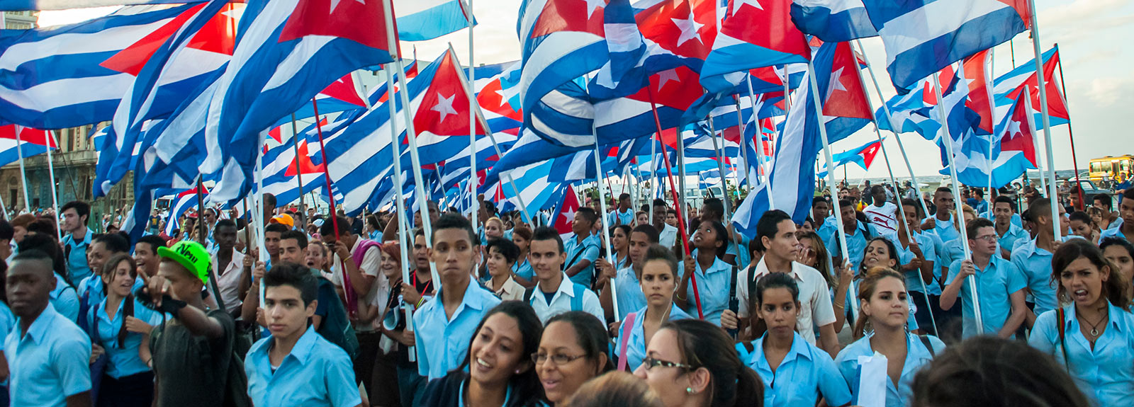 With the triumph of the Revolution on January 1, 1959, May Day became a holiday of the working class who every May 1 fill Plaza de la Revolución joined by students, agricultural workers and the armed forces in support of the Revolution.  Havana, Cuba