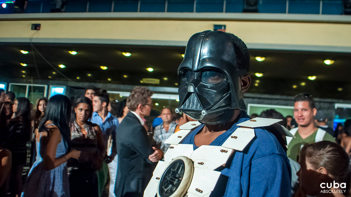 Even Darth Vader was excited about the Lucas Awards! Havana, Cuba