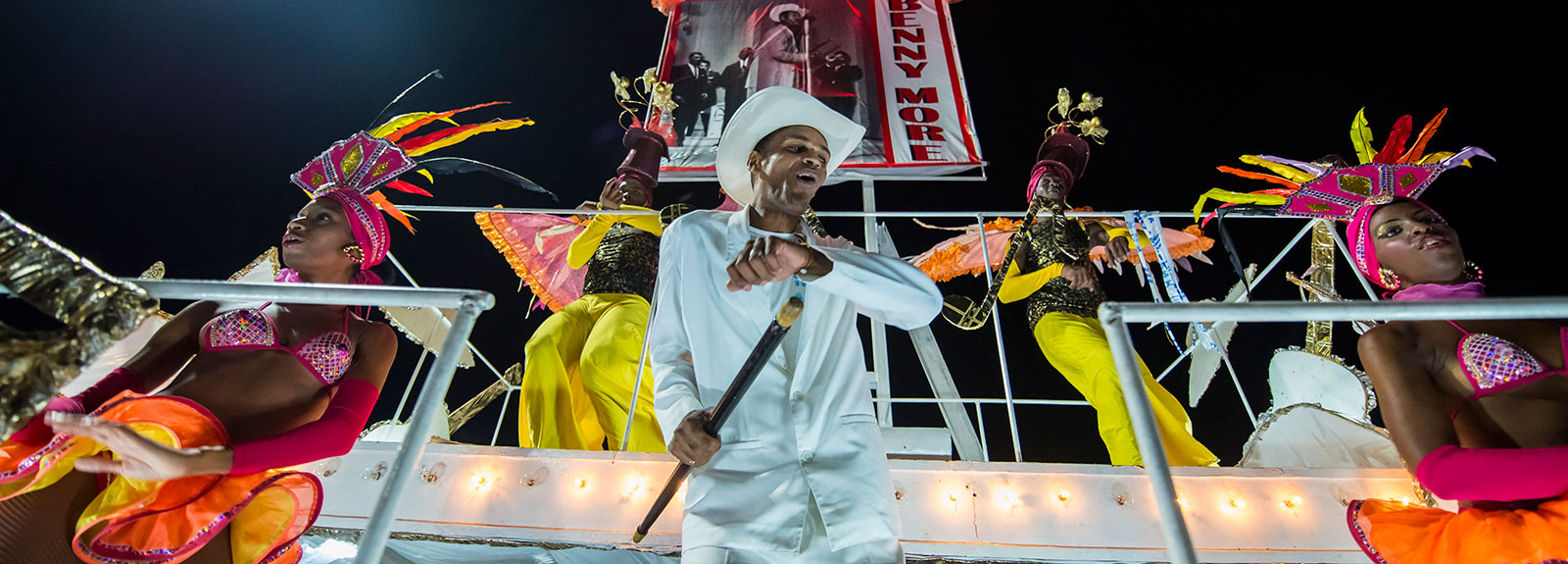 Although they are a far cry from the glory days of their predecessors, floats, comparsas and muñecones still parade down the Malecón from La Punta to the Hotel Nacional every August to the delight of the thousands of revelers who gather on the streets to watch the parade.  Havana, Cuba